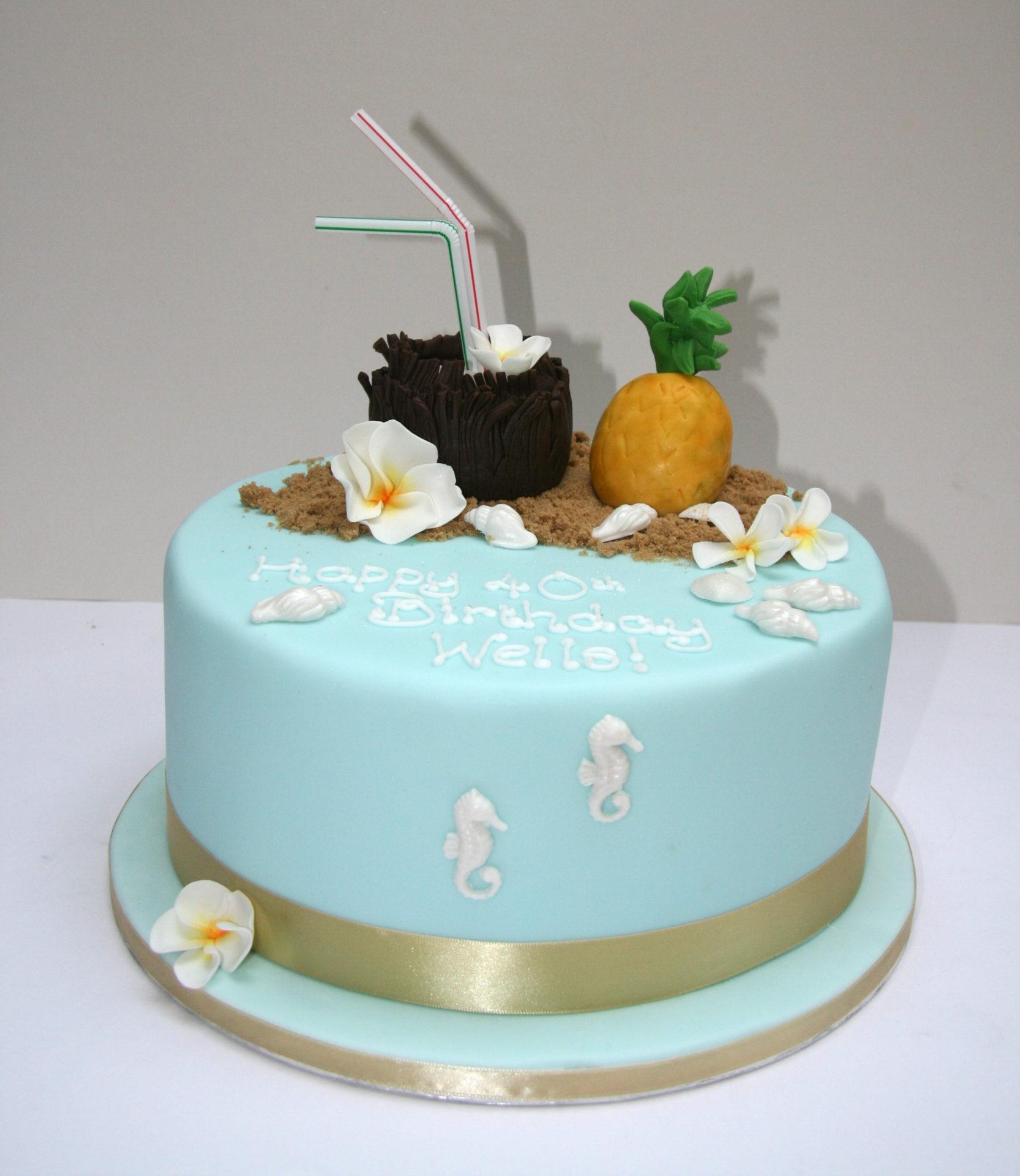 Tropical Cocktails Birthday Cake London – Etoile Bakery