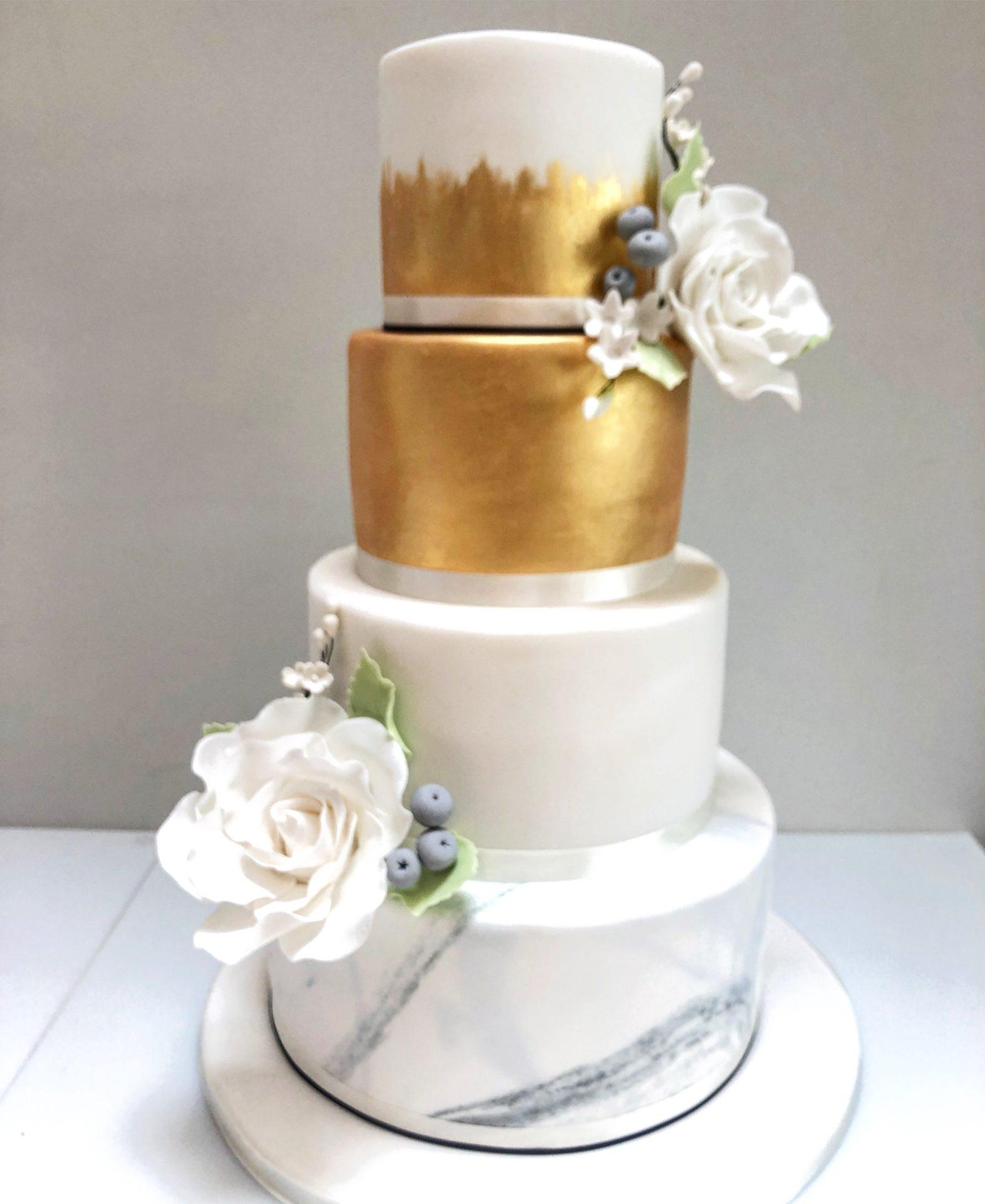 Marble Wedding Cake London Etoile Bakery
