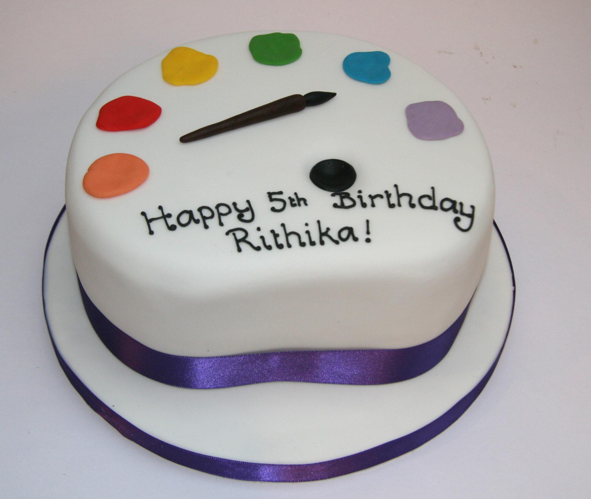 Paint Palette Cake Etoile Bakery