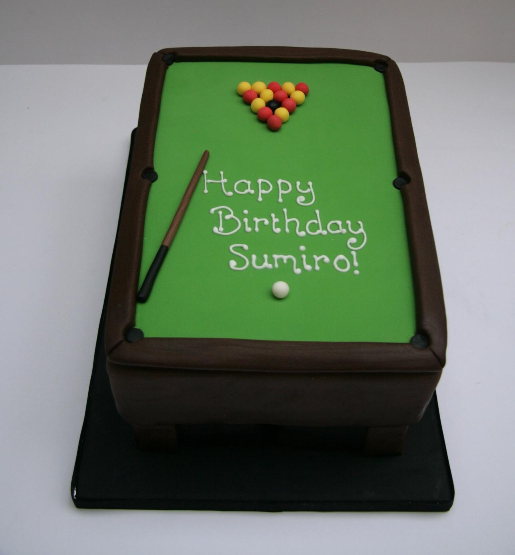 Amazing Billiards Table Cake Etoile Bakery Personalised Birthday Cards Akebfashionlily Jamesorg