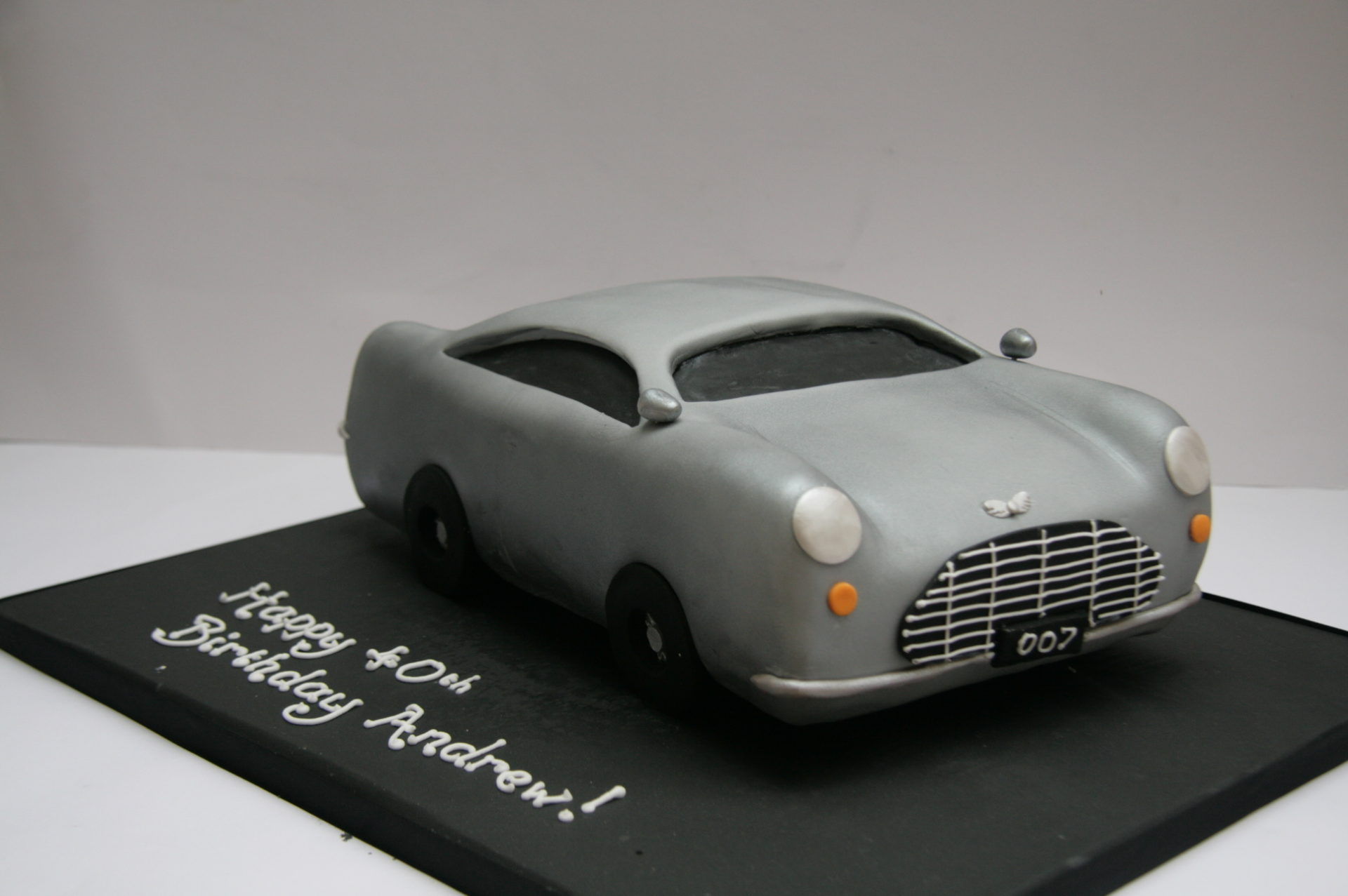Aston Martin James Bond Cake