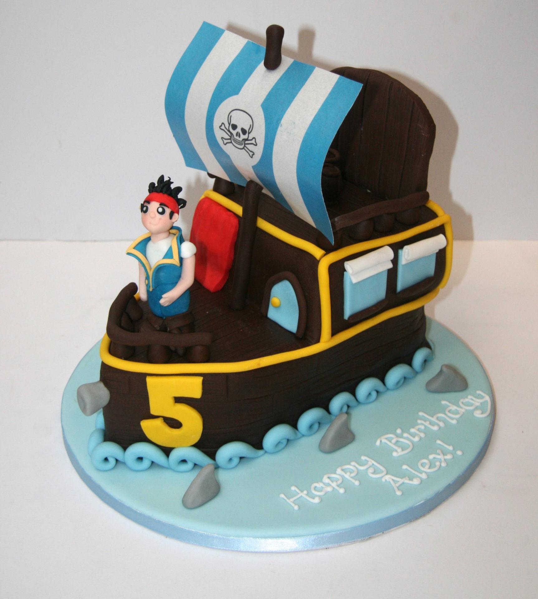 Amazing Jake The Pirate Birthday Cake Etoile Bakery Personalised Birthday Cards Epsylily Jamesorg