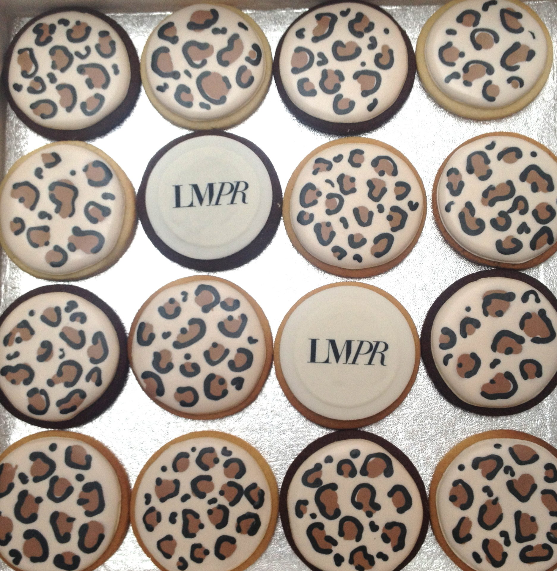 Fierce Leopard Print Biscuits