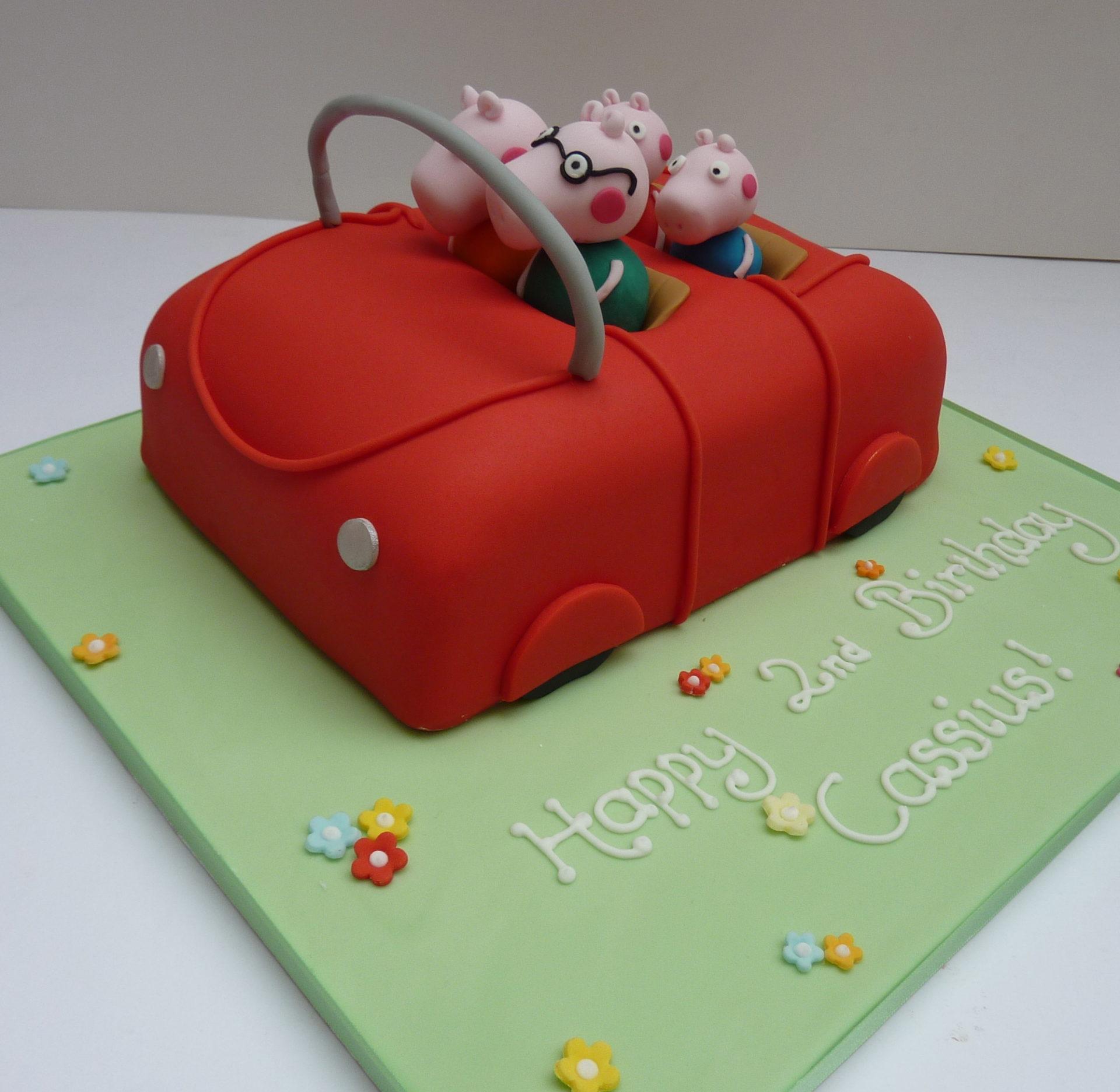 Peppa Pig's Car Cake