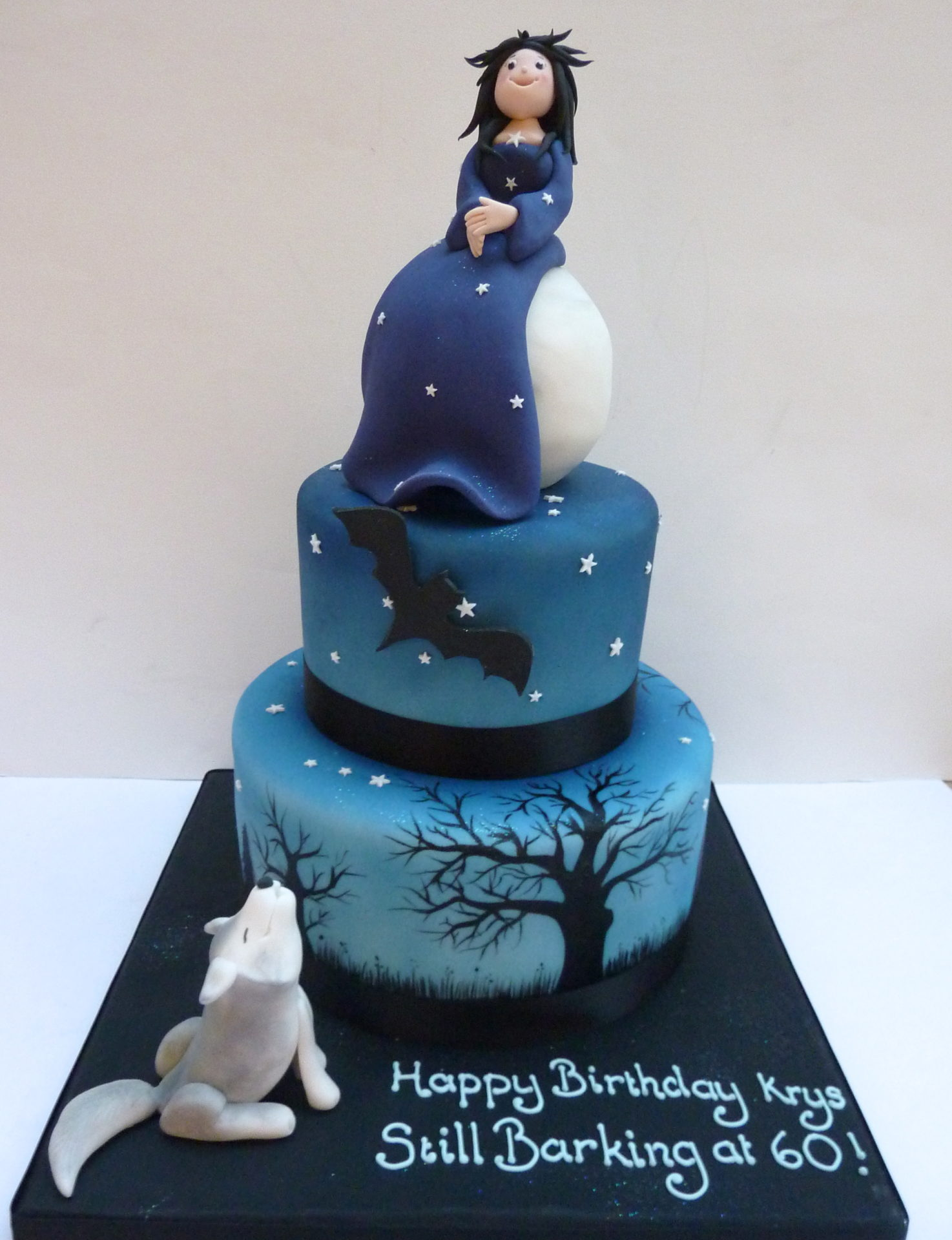 Howling wolf cake for Debra's birthday!   Wolf cake, Dog ...  Howling Wolf Animal Jam Cake