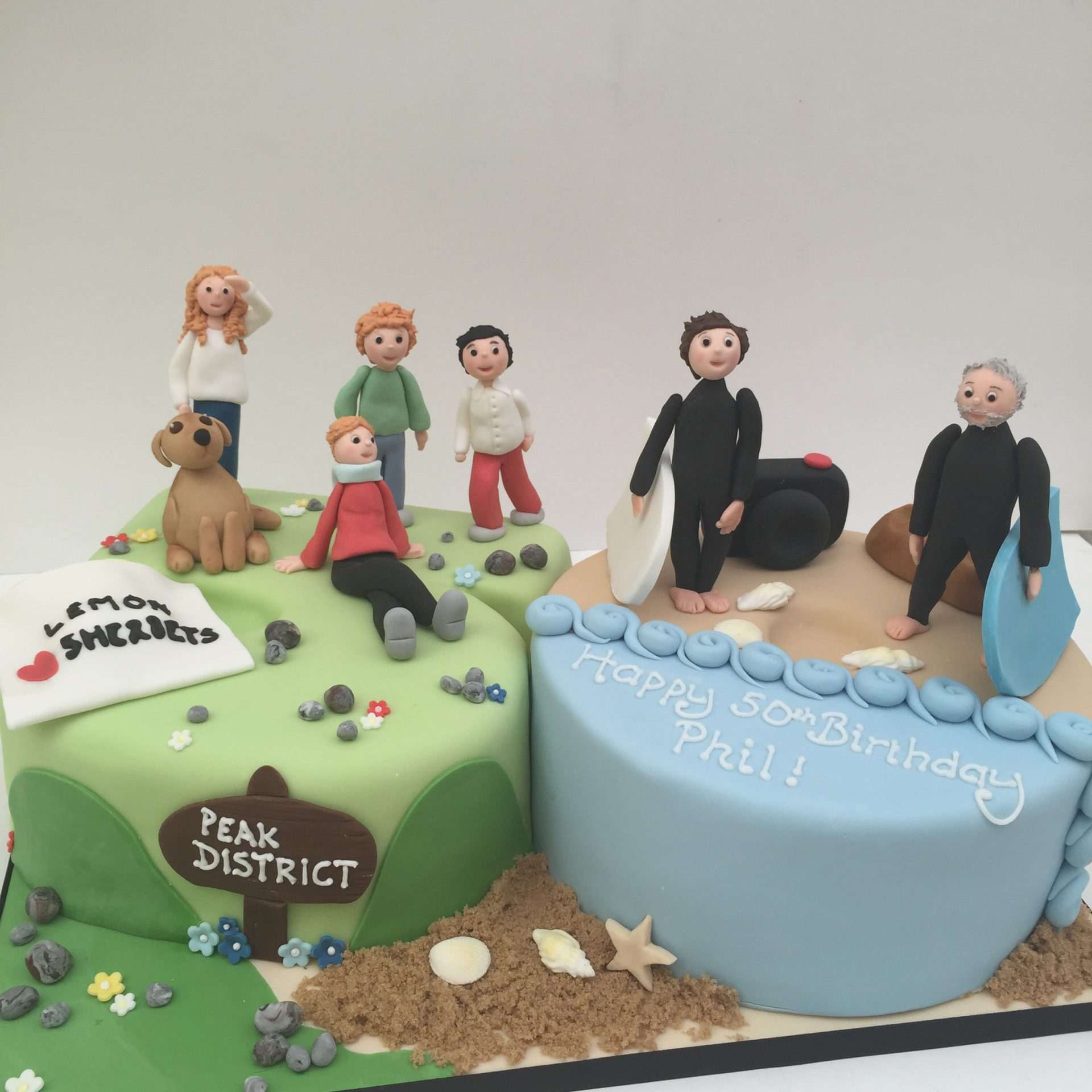 Excellent 50Th Birthday Cake With All His Favourite Things Etoile Bakery Funny Birthday Cards Online Alyptdamsfinfo