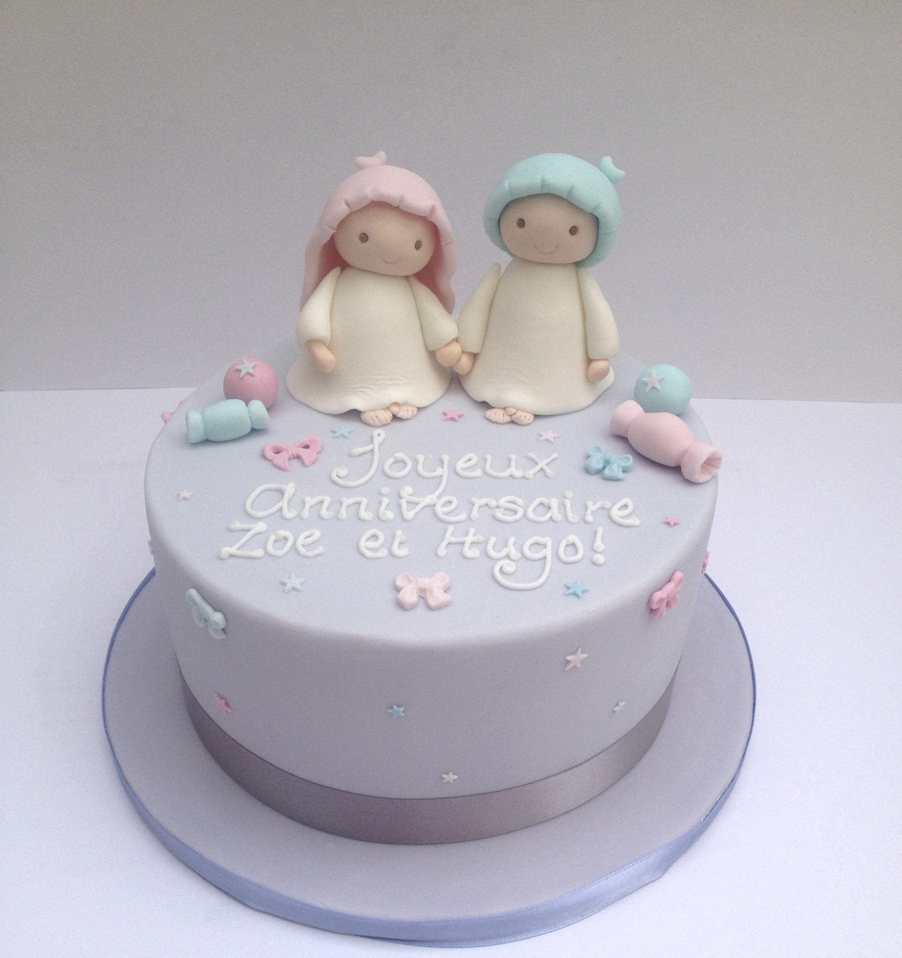 Fabulous Twins Birthday Cake Etoile Bakery Funny Birthday Cards Online Alyptdamsfinfo
