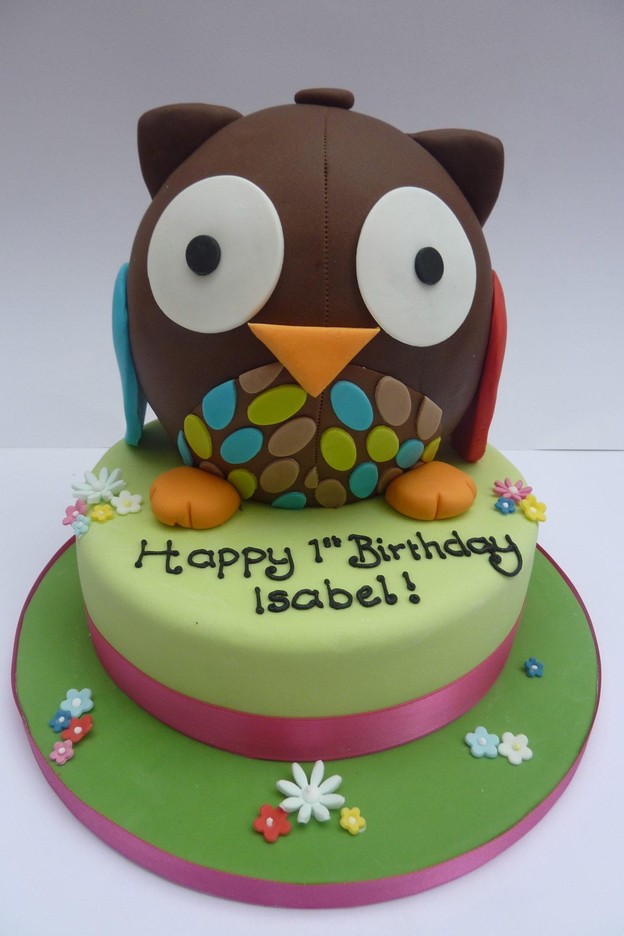 Peachy Owl Birthday Cake Etoile Bakery Funny Birthday Cards Online Fluifree Goldxyz