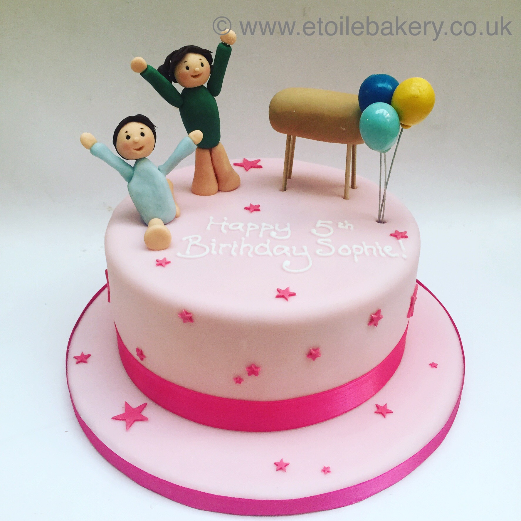 Fabulous Gymnastics Birthday Cake Etoile Bakery Personalised Birthday Cards Petedlily Jamesorg