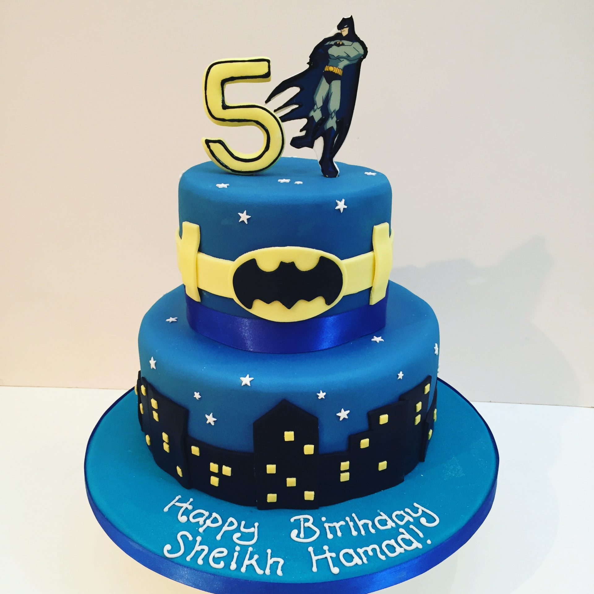Remarkable Batman Cake Etoile Bakery Personalised Birthday Cards Veneteletsinfo