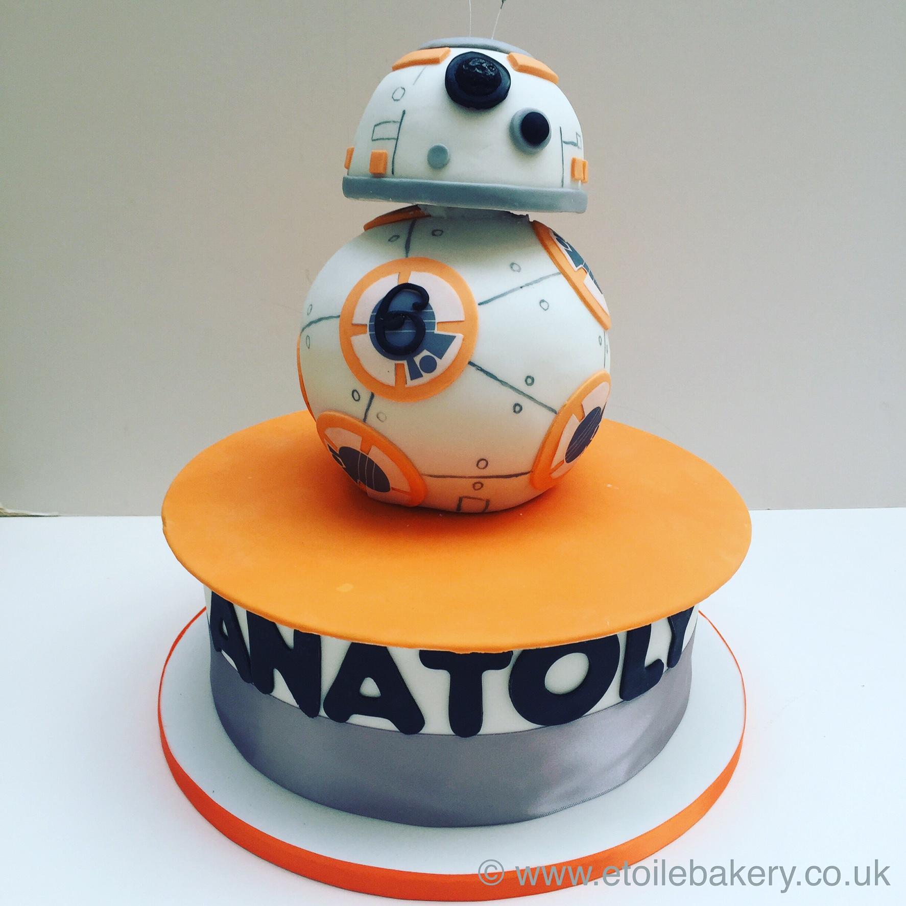 Awesome Bb8 Star Wars Cake Etoile Bakery Personalised Birthday Cards Beptaeletsinfo