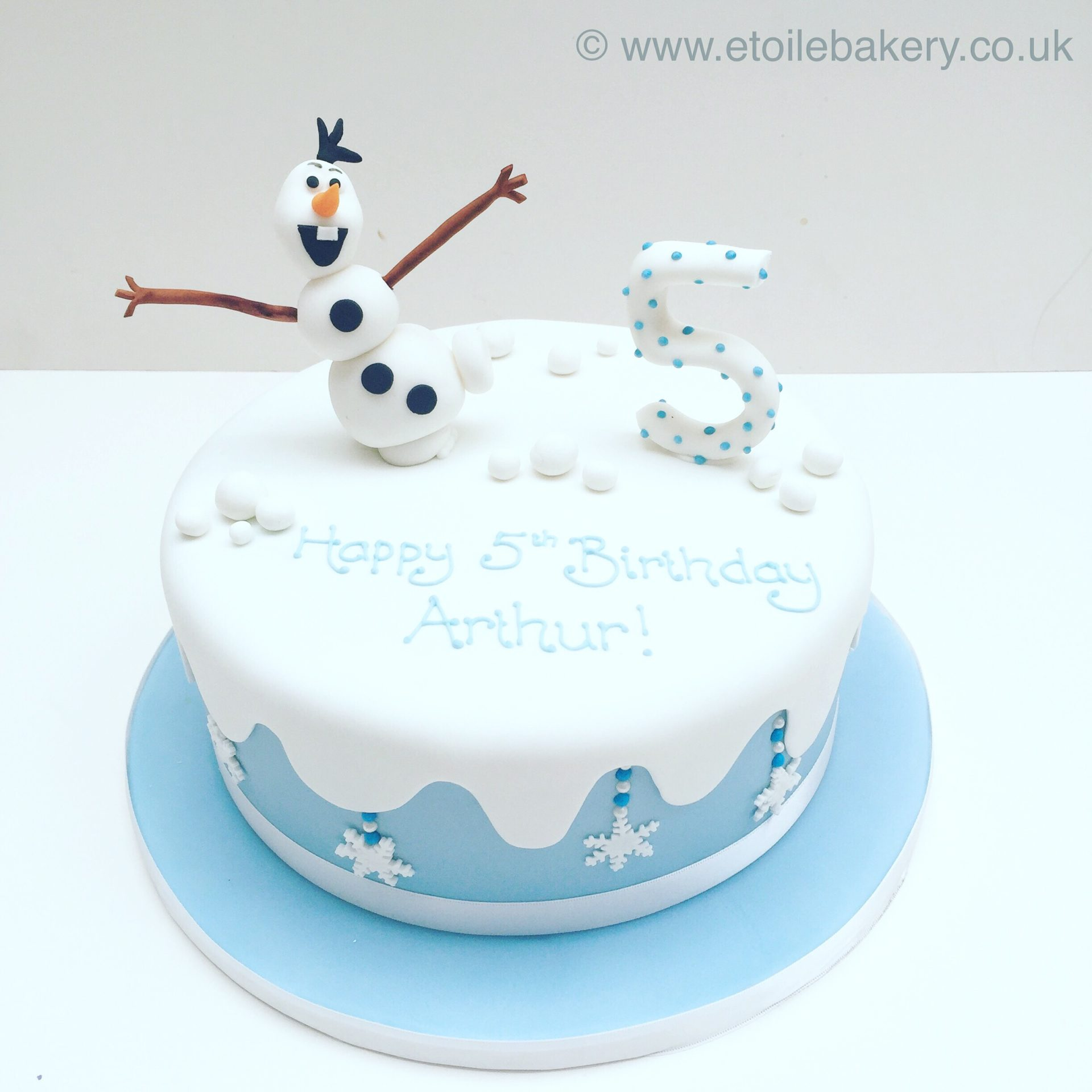 Incredible Olaf Birthday Cake Etoile Bakery Personalised Birthday Cards Paralily Jamesorg