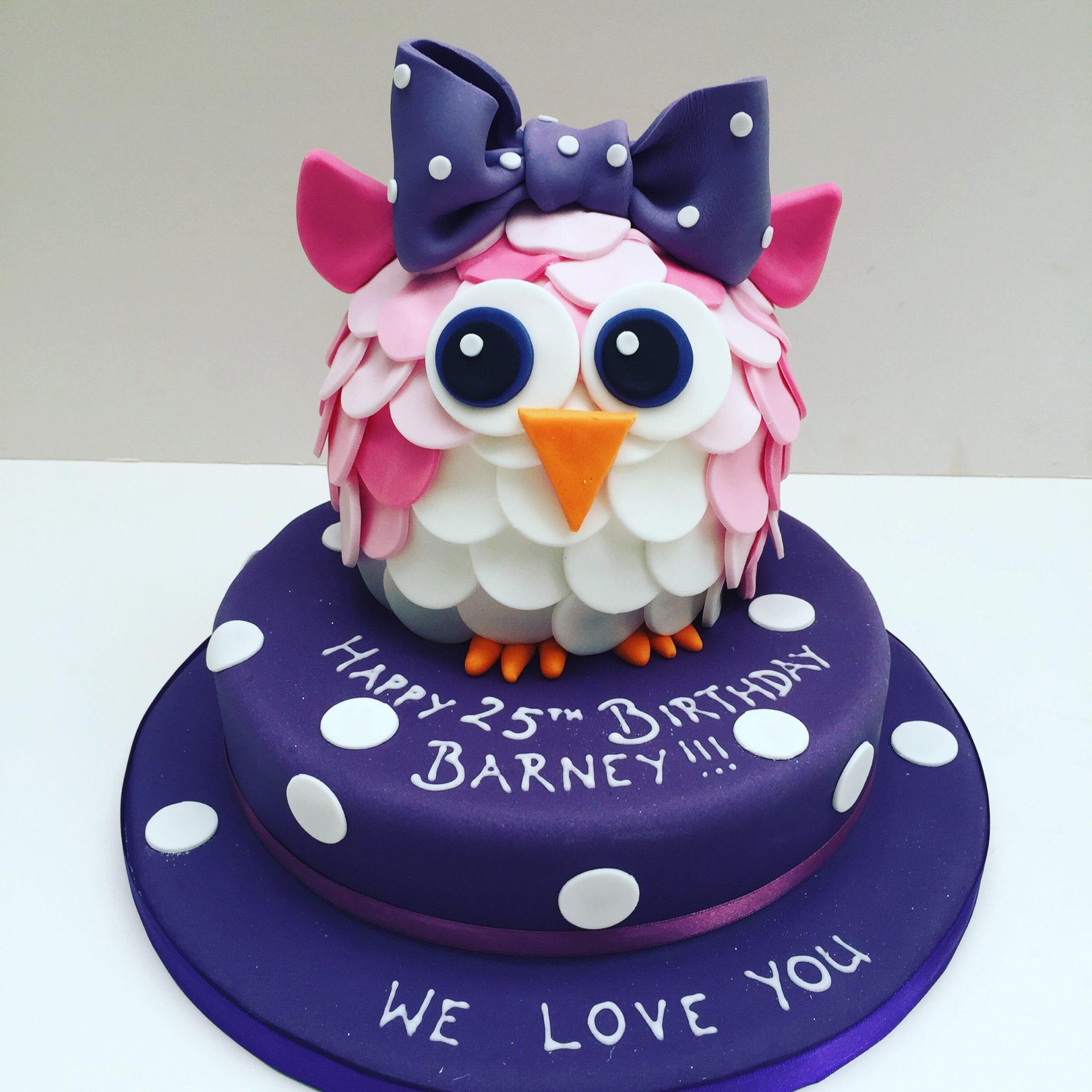 Sensational Owl Cake Etoile Bakery Funny Birthday Cards Online Fluifree Goldxyz