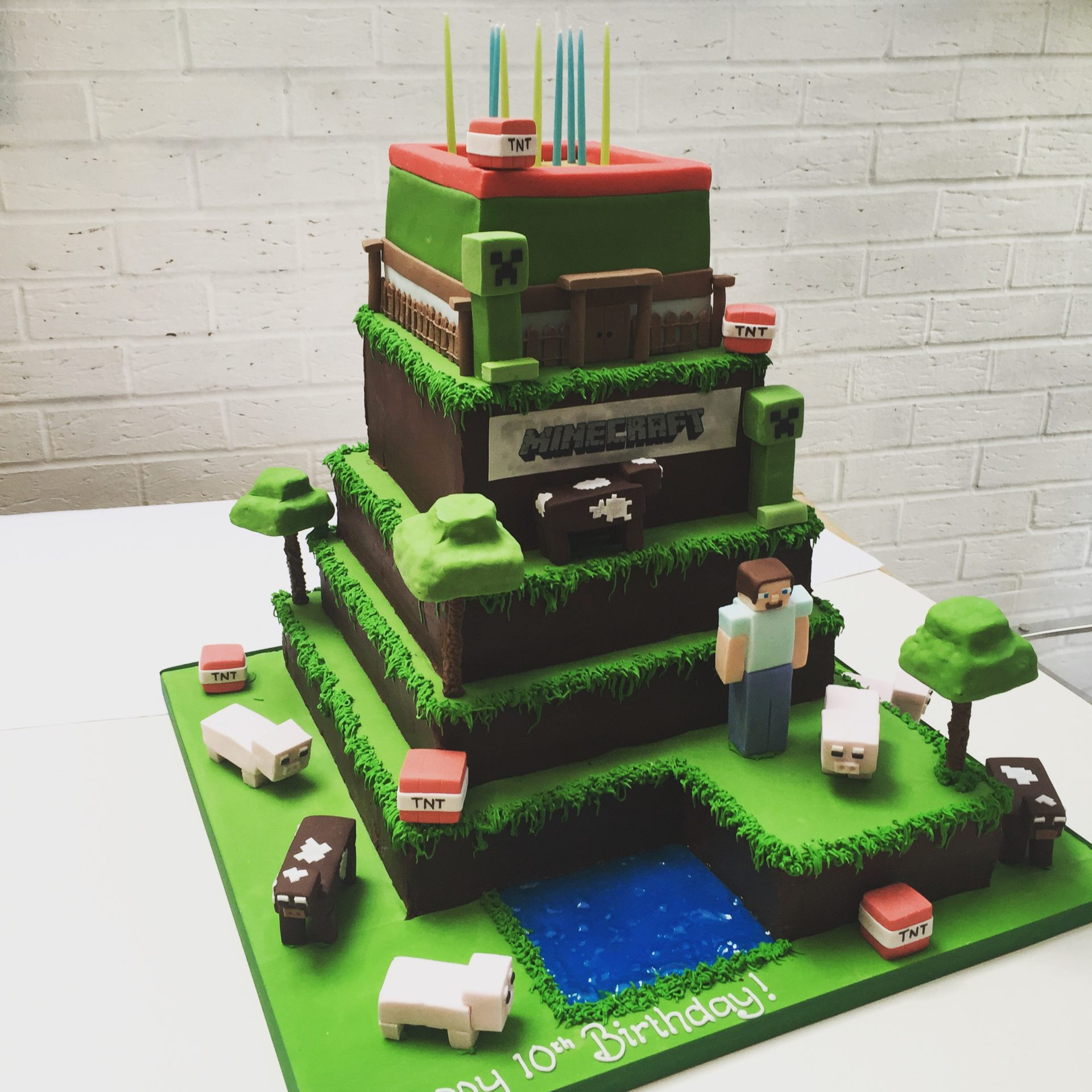 Excellent Minecraft Cake Etoile Bakery Funny Birthday Cards Online Fluifree Goldxyz