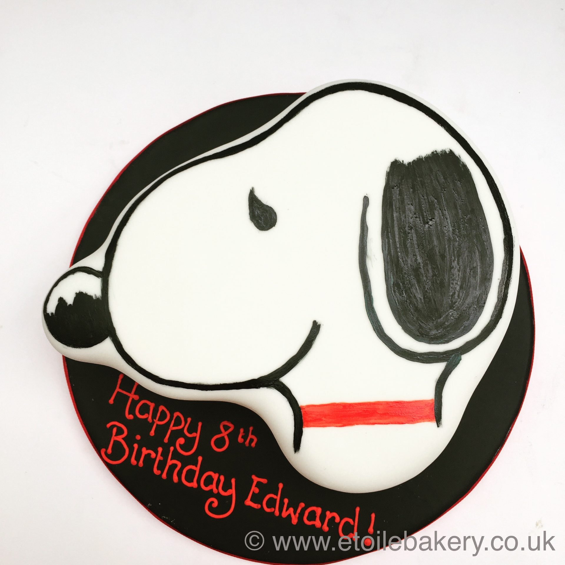 Enjoyable Peanuts Snoopy Birthday Cake London Etoile Bakery Funny Birthday Cards Online Alyptdamsfinfo