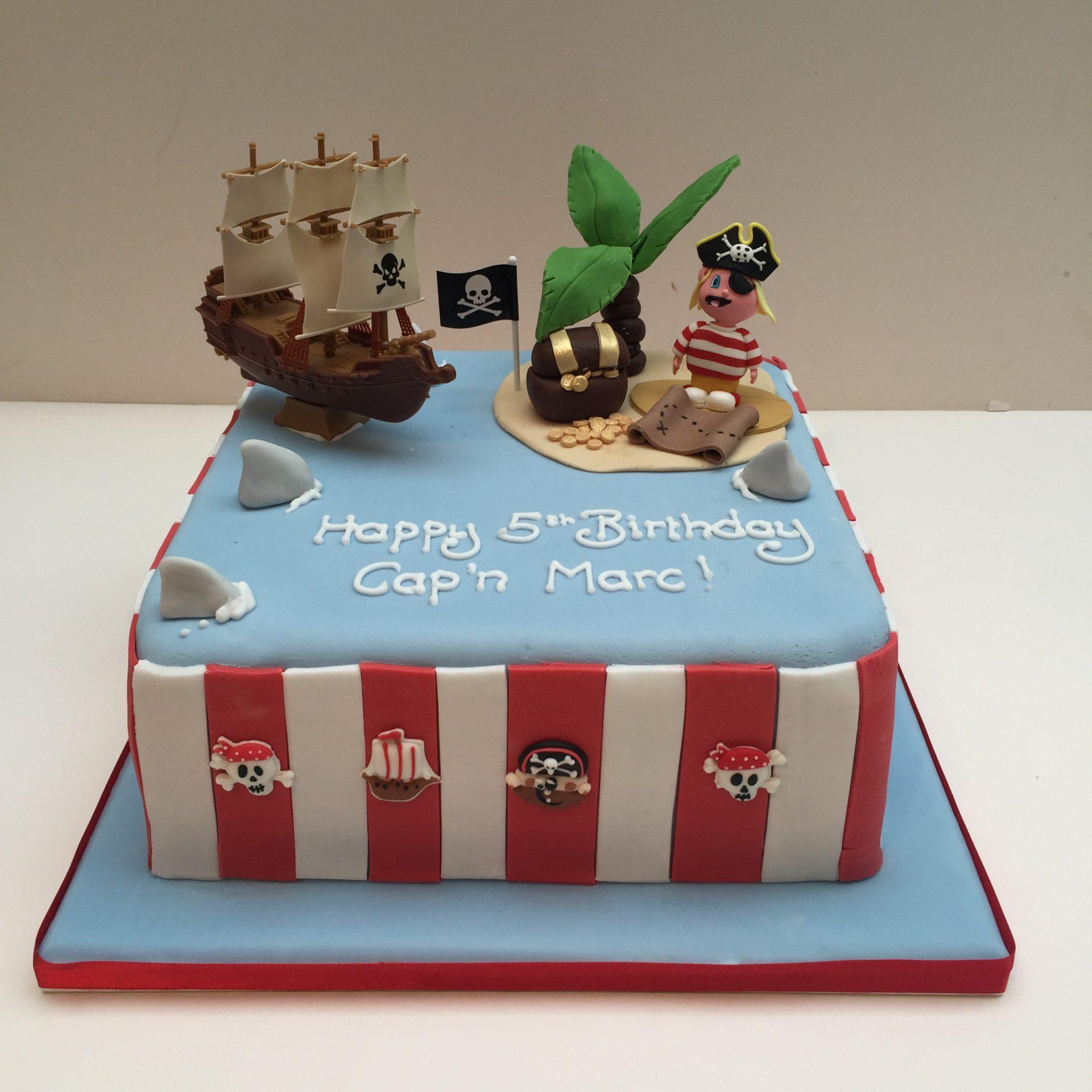 Superb Pirate Birthday Cake Etoile Bakery Personalised Birthday Cards Rectzonderlifede