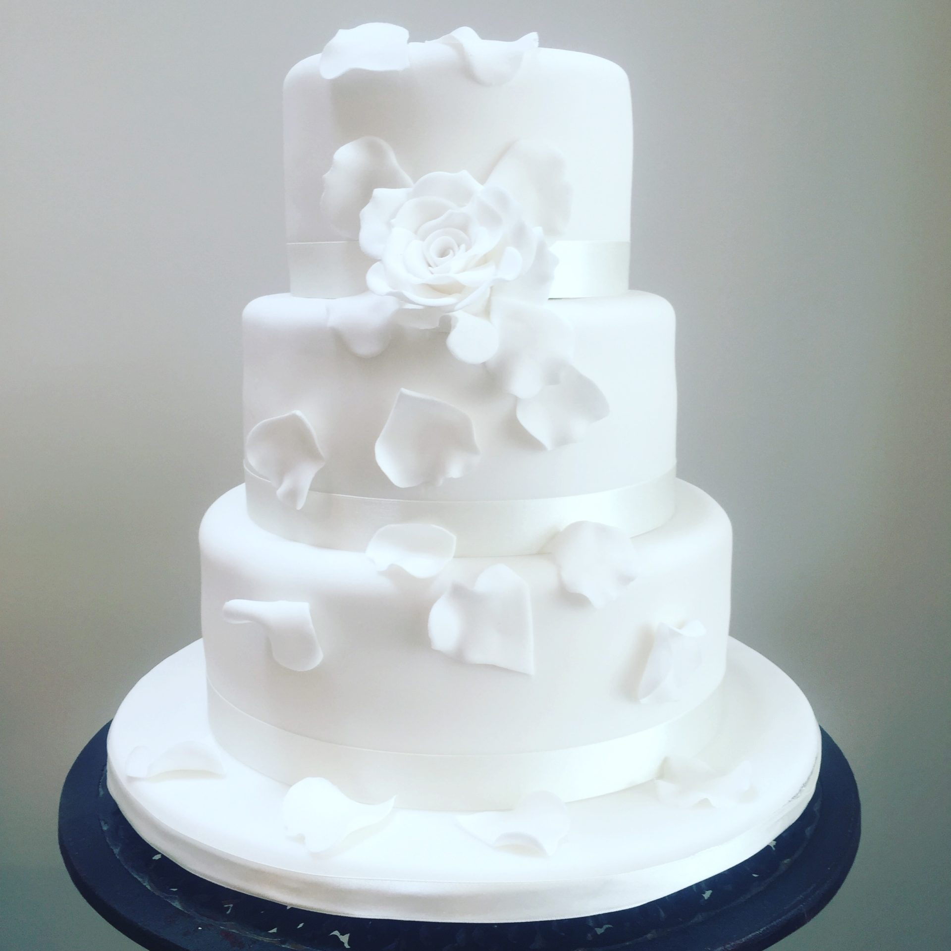 Tumbling Petals Wedding Cake