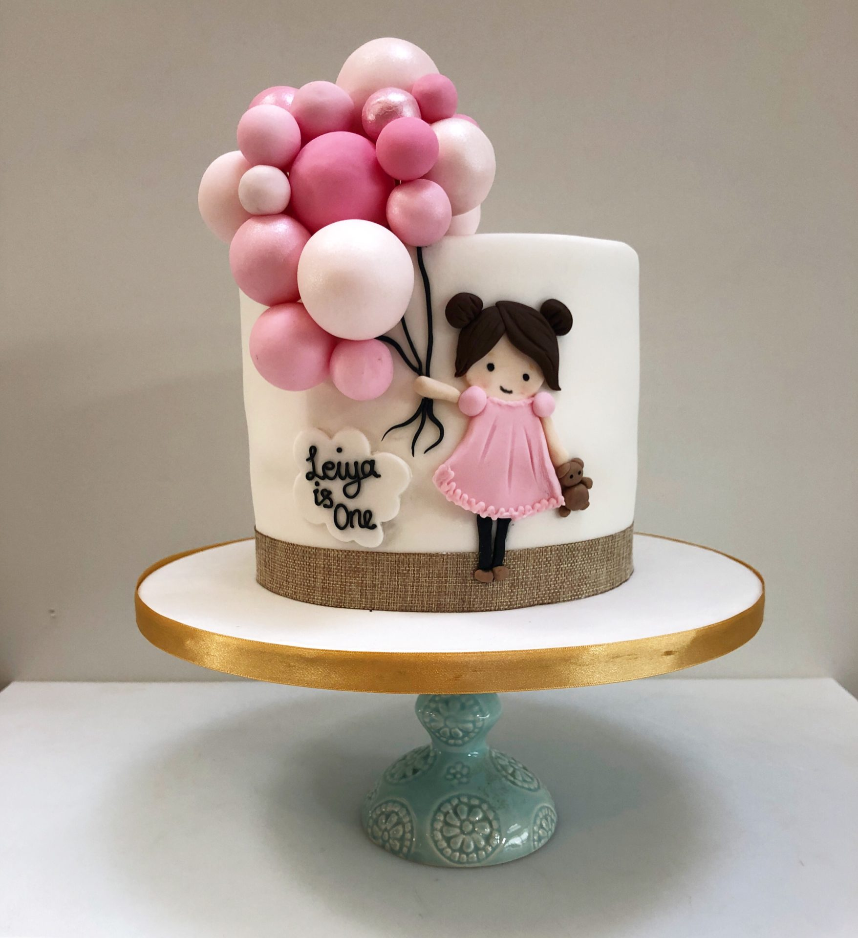 Sensational Bespoke Girl Birthday Cake London Etoile Bakery Personalised Birthday Cards Veneteletsinfo