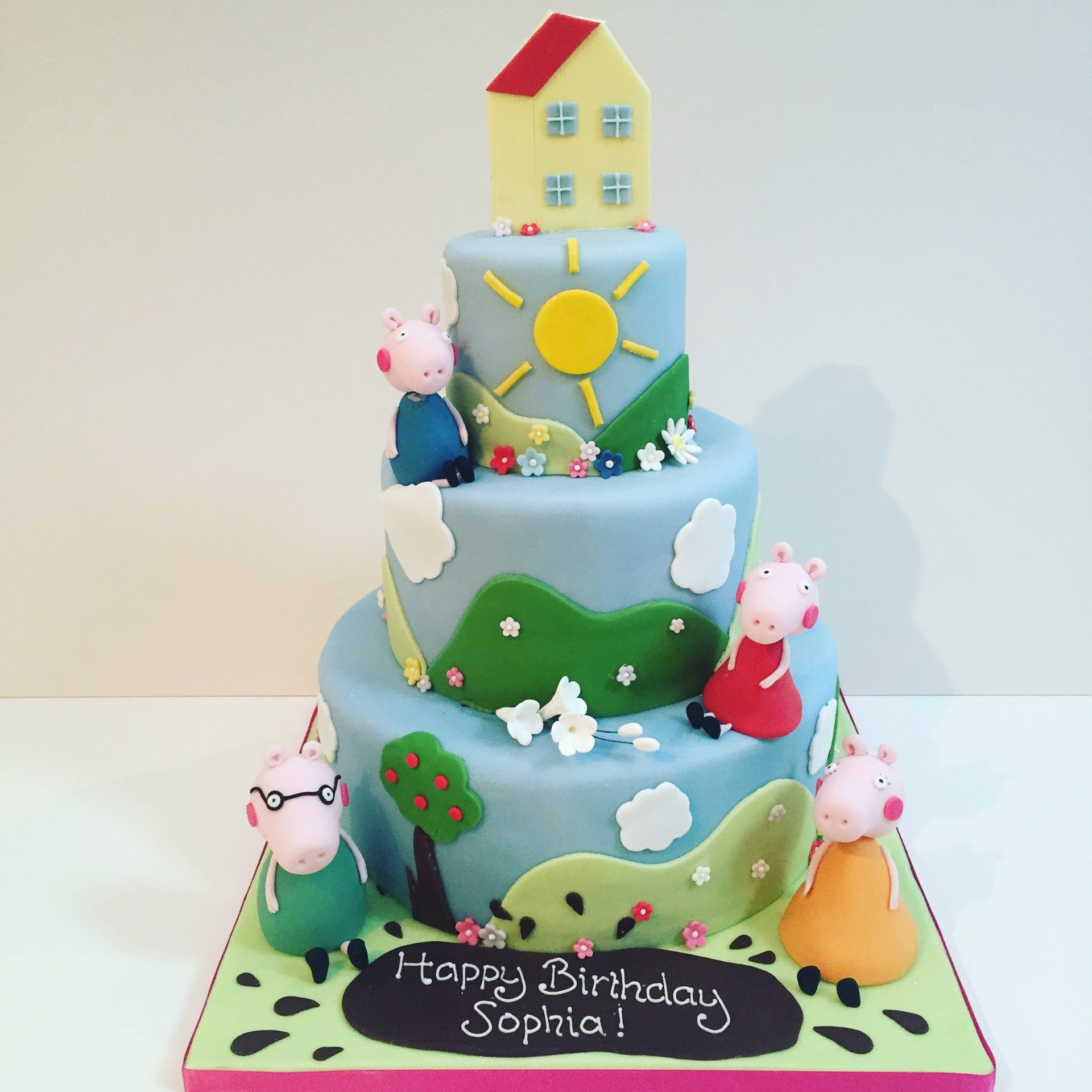 Magnificent Peppa Pig Birthday Cake Etoile Bakery Personalised Birthday Cards Bromeletsinfo