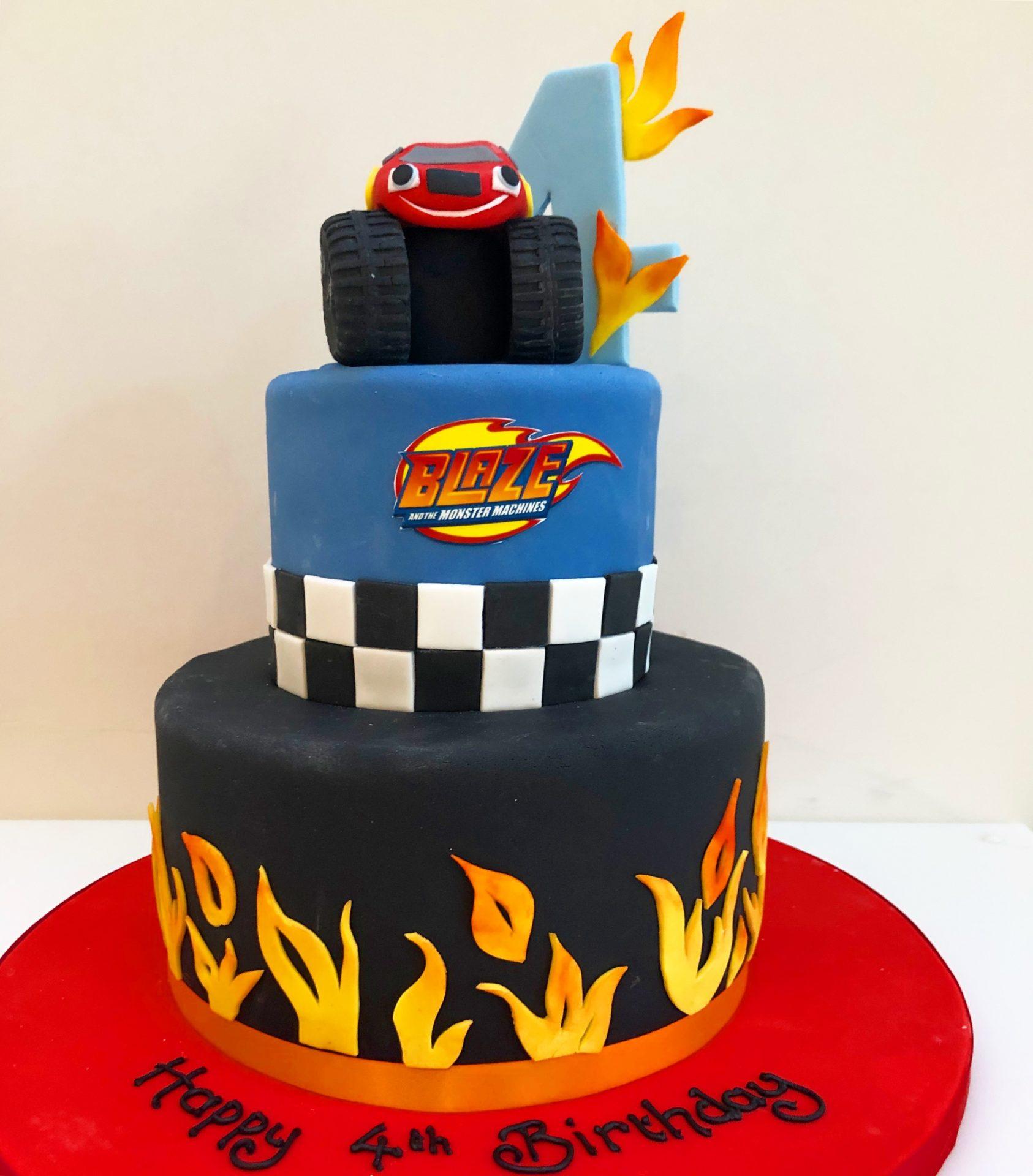 Strange Monster Truck Birthday Cake Etoile Bakery Birthday Cards Printable Opercafe Filternl