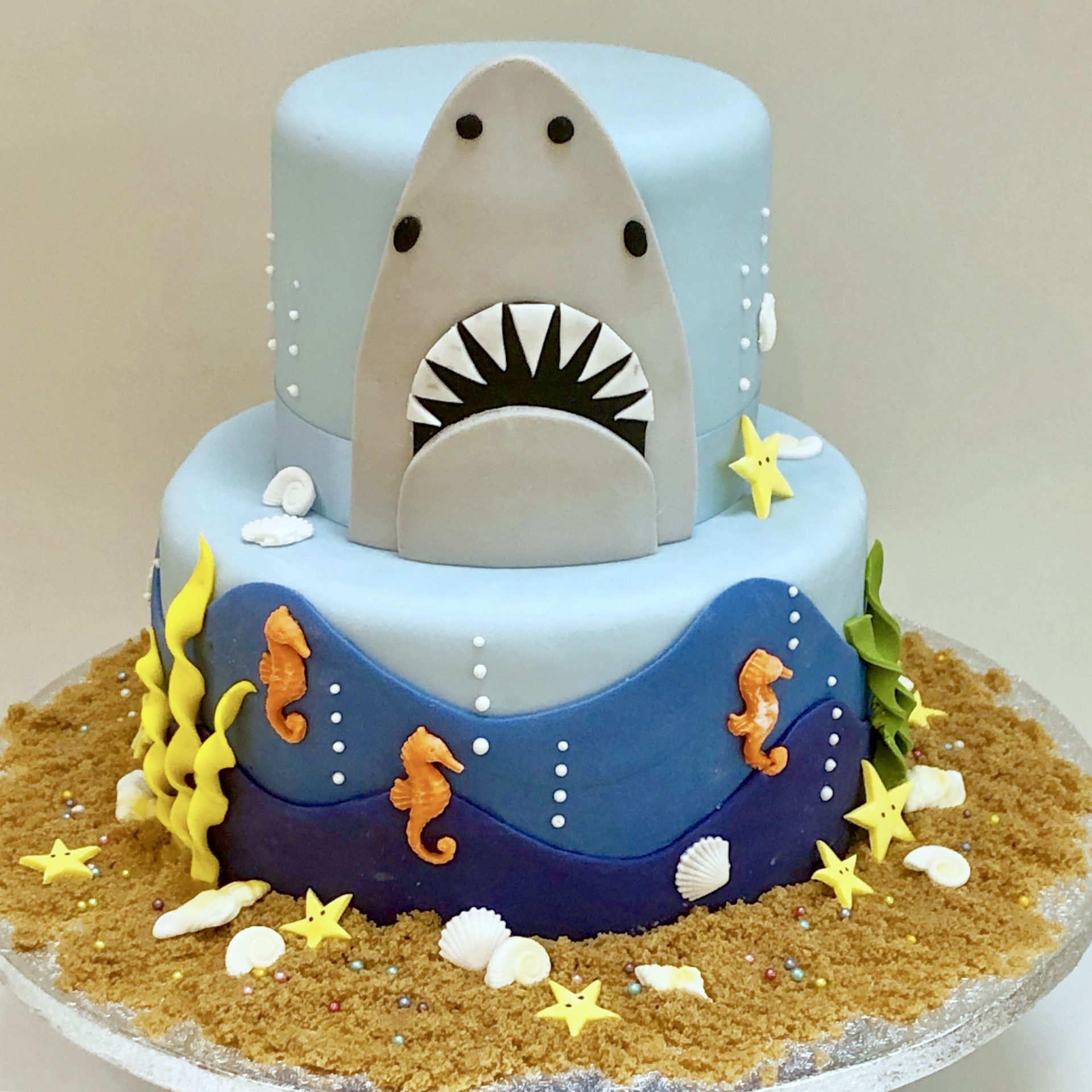 Incredible Shark Themed Birthday Cake Etoile Bakery Funny Birthday Cards Online Fluifree Goldxyz
