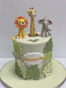 Tall Jungle Animals Cake