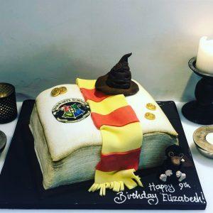 Harry Potter Themed Spell Book Cake