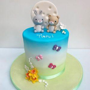 Cute Bunny and Teddy Cake
