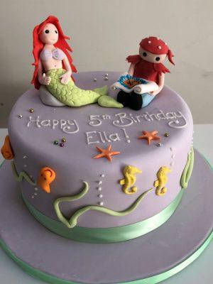 Pirate and Mermaid Birthday Cake
