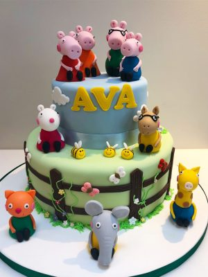 Peppa and Friends Birthday Cake