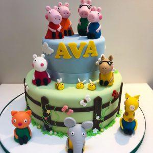 Peppa and Friends Birthday Cake