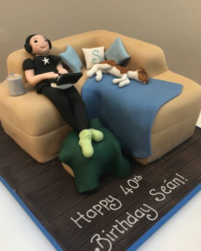 Chilling on the Sofa Cake