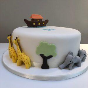Noah's Ark Christening Cake