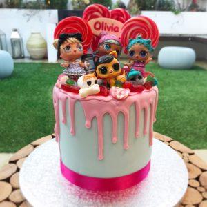 LOL Dolls Drip Cake