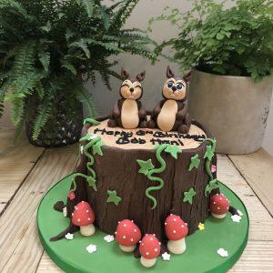 Happy Squirrel Cake