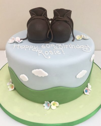 Walking Boots Birthday Cake