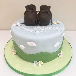 Walking Boots Birthday Cake