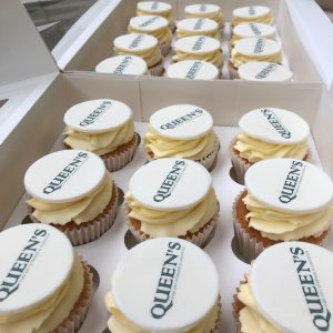 Printed Corporate Logo Cupcakes