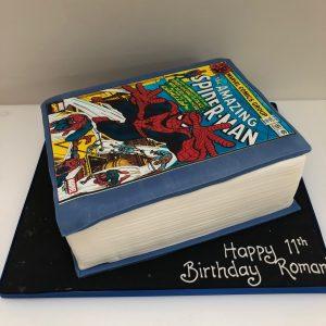 Comic Book Birthday Cake