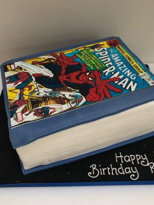 Comic Book Birthday Cake