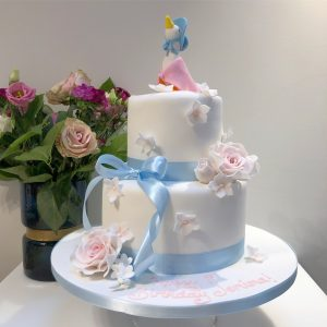 Jemima Puddle Duck and Rose 2 Tier Birthday Cake