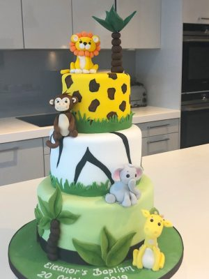 Jungle themed birthday cake