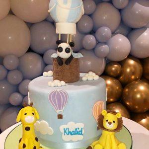 Animal Hot Air Balloon Cake