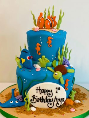 Tiered Finding Nemo Cake