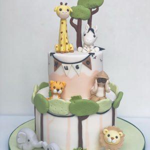Pastel Jungle Cake