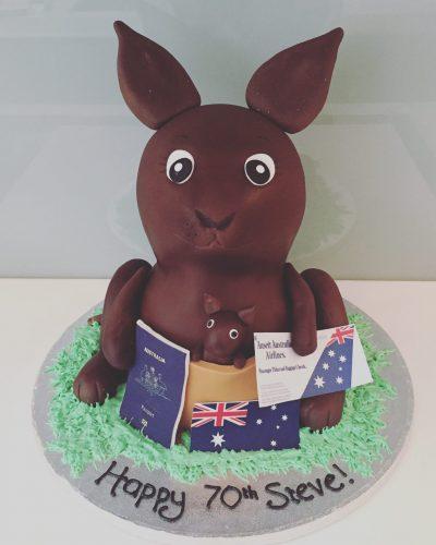 Kangaroo Birthday Cake
