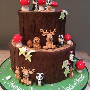 Woodland Animals Cake