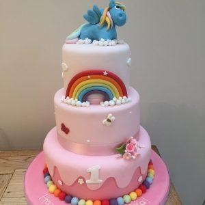 My Little Pony and Rainbow Cake