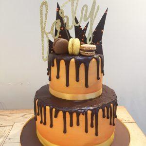 40th Drip Cake