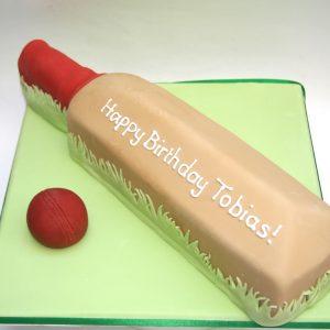 Cricket Bat Cake